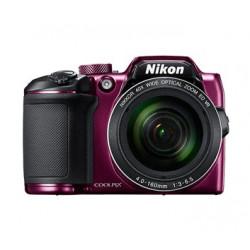 фотоапарат Nikon CoolPix B500 (лилав) + зарядно у-во Panasonic Eneloop Basic + 4 бр. AA