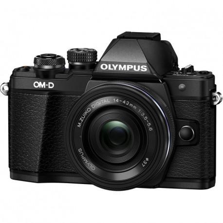 Olympus E-M10 II (черен) OM-D + обектив Olympus ZD Micro 14-42mm f/3.5-5.6 EZ ED MSC (черен) + обектив Olympus 25mm f/1.8 MSC