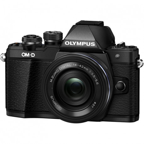 Olympus E-M10 II (черен) OM-D + обектив Olympus ZD Micro 14-42mm f/3.5-5.6 EZ ED MSC (черен) + обектив Olympus MFT 45mm f/1.8 MSC