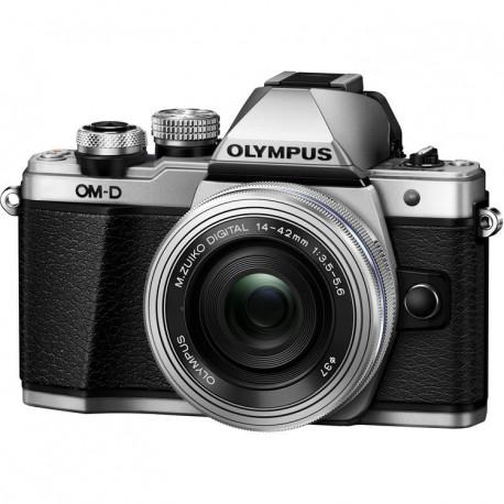 фотоапарат Olympus E-M10 II (сребрист) OM-D + обектив Olympus ZD Micro 14-42mm f/3.5-5.6 EZ ED MSC (сребрист)
