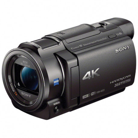 Camcorder Sony FDR-AX33 4K HandyCam + Memory card Lexar 32GB Professional UHS-I SDHC Memory Card (U3)