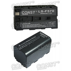 Battery Const 70134 NP-F570 Battery, 2000 mAh, 7.2V
