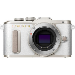 фотоапарат Olympus PEN E-PL8 (бял) + обектив Olympus ZD Micro 14-42mm f/3.5-5.6 II R MSC (сребрист)