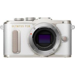 фотоапарат Olympus PEN E-PL8 (бял) + обектив Olympus ZD Micro 40-150mm F/4-5.6 ED R MSC (сребрист)