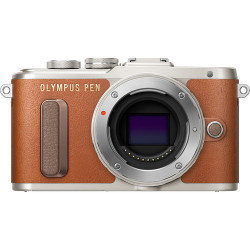 фотоапарат Olympus PEN E-PL8 (кафяв) + обектив Olympus ZD Micro 14-42mm f/3.5-5.6 EZ ED MSC (сребрист)