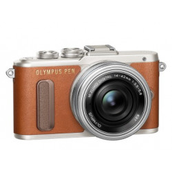 OLYMPUS PEN E-PL8 BROWN+14-42MM EZ KIT+40-150MM SILVER