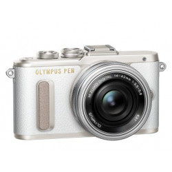 OLYMPUS PEN E-PL8 WHITE+14-42MM EZ KIT+40-150MM SILVER