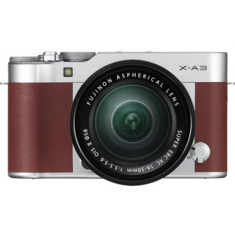 фотоапарат Fujifilm X-A3 (кафяв) + обектив Fujifilm Fujinon XC 16-50mm f/3.5-5.6 OIS II