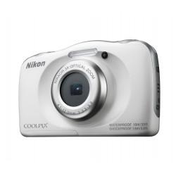 Camera Nikon Coolpix W100 (white) + backpack