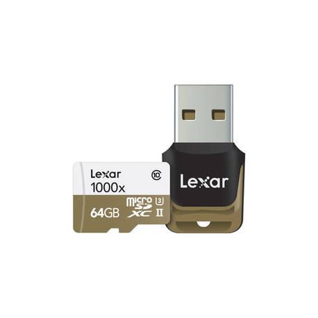 Lexar Professional Micro SDXC 64GB 1000X 150MB/S+READER USB 3.0