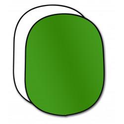 фон Dynaphos 33019 Сгъваем фон с две лица 150 х 200 см Chromagreen / Бял