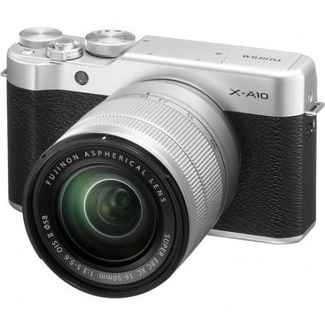 Camera Fujifilm X-A10 (сребрист) + Lens Fujifilm Fujinon XC 16-50mm f/3.5-5.6 OIS II