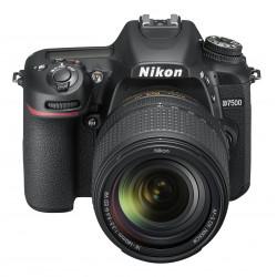 фотоапарат Nikon D7500 + обектив Nikon 18-140mm VR + обектив Nikon AF-P DX Nikkor 70-300mm f/4.5-6.3G ED VR