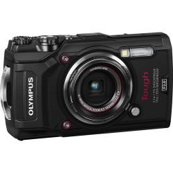 фотоапарат Olympus TG-5 + аксесоар Olympus CHS-09 Floating Strap (червен)