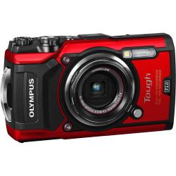 фотоапарат Olympus TG-5 (червен) + аксесоар Olympus CHS-09 Floating Strap (червен)