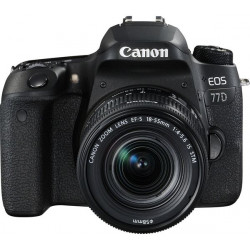 DSLR camera Canon EOS 77D + Lens Canon EF-S 18-55mm IS STM + Lens Canon EF 50mm f/1.8 STM