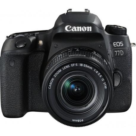 DSLR camera Canon EOS 77D + Lens Canon EF-S 18-55mm IS STM