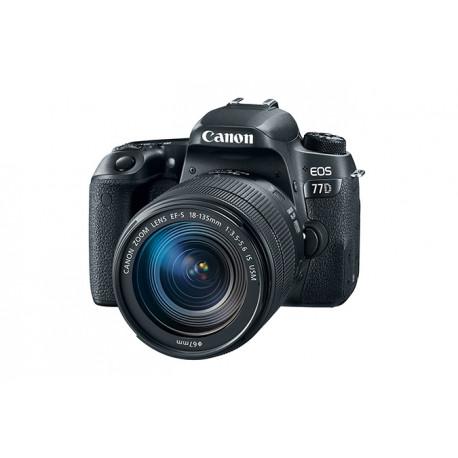 DSLR Canon EOS 77D + обектив Canon EF-S 18-135mm IS Nano