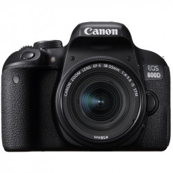 DSLR camera Canon EOS 800D + Lens Canon EF-S 18-55mm IS STM + Memory card Lexar 32GB Professional UHS-I SDHC Memory Card (U3)
