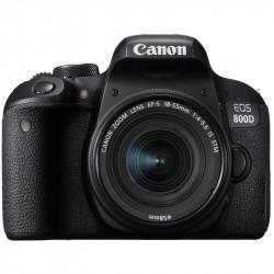 фотоапарат Canon EOS 800D + обектив Canon EF-S 18-55mm IS STM + карта Lexar 32GB Professional UHS-I SDHC Memory Card (U3)