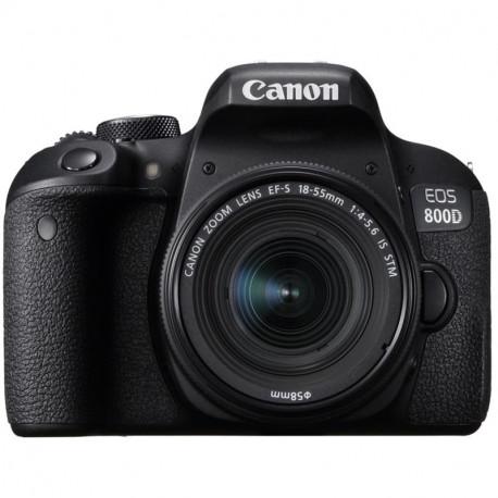 Canon EOS 800D + обектив Canon EF-S 18-55mm IS STM + карта Lexar 32GB Professional UHS-I SDHC Memory Card (U3)