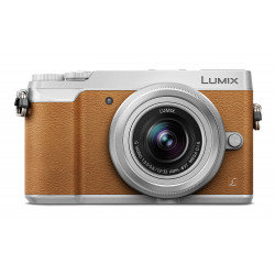 Camera Panasonic Lumix GX80 (кафяв) + Lens Panasonic Lumix G 12-32mm f/3.5-5.6 MEGA OIS (сребрист)