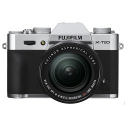 фотоапарат Fujifilm X-T20 (сребрист) + обектив Fujifilm XF 18-55mm f/2.8-4 R LM OIS