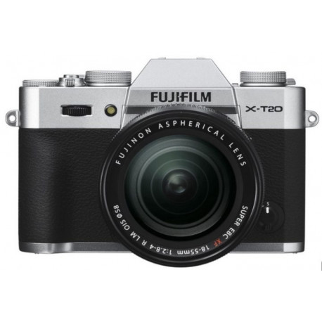 Camera Fujifilm X-T20 (сребрист) + Lens Fujifilm XF 18-55mm f/2.8-4 R LM OIS