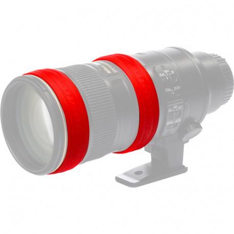 EasyCover EC2LRC силиконови пръстени за обектив (червени)