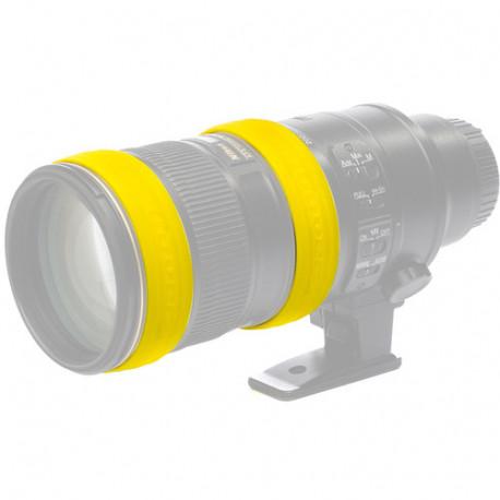 EasyCover EC2LRY силиконови пръстени за обектив (жълти)