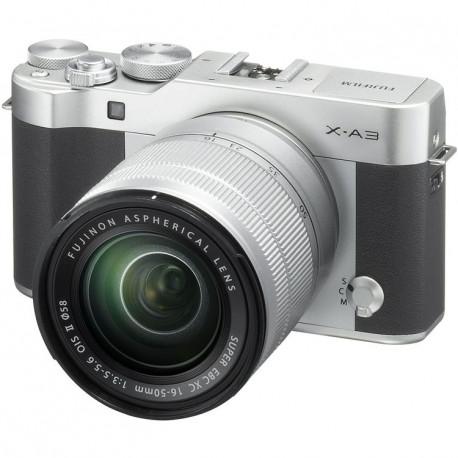 фотоапарат Fujifilm X-A3 (сребрист) + обектив Fujifilm Fujinon XC 16-50mm f/3.5-5.6 OIS II