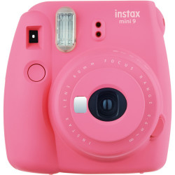 фотоапарат за моментални снимки Fujifilm instax mini 9 Instant Camera Flamingo Pink + фото филм Fujifilm Instax Mini Hello Kitty Instant Film 10 бр.
