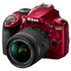 NIKON D3400 RED+AF-P 18-55MM F/3.5-5.6G VR KIT+DSLR BAG