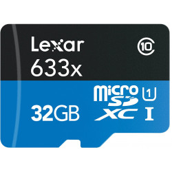Lexar 32GB High-Performance microSDHC + Adapter