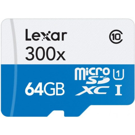 Lexar HIGH PERFORMANCE MICRO SDHC 64GB 300X 45MB/S