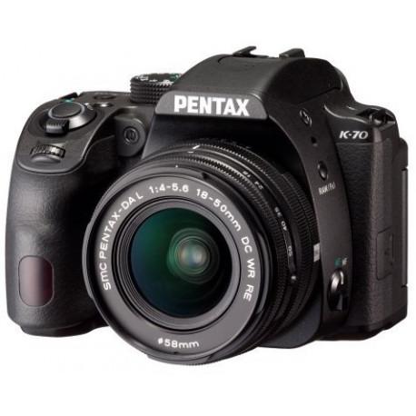 фотоапарат Pentax K-70 + обектив Pentax 18-50mm WR
