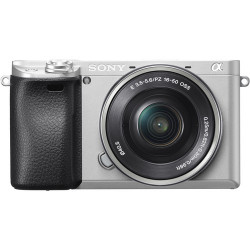 Sony A6300 (сребрист) + обектив Sony SEL 16-50mm f/3.5-5.6 PZ OSS (сребрист) + обектив Sigma 60mm f/2.8 DN - Sony E