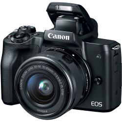 фотоапарат Canon EOS M50 + обектив Canon EF-M 15-45mm f/3.5-6.3 IS STM + обектив Canon EF-M 55-200mm f/4.5-6.3 IS STM + карта Lexar 32GB Professional UHS-I SDHC Memory Card (U3)