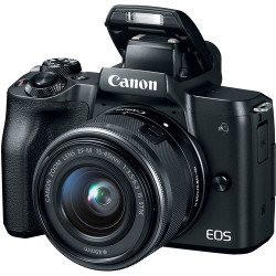 фотоапарат Canon EOS M50 + обектив Canon EF-M 15-45mm f/3.5-6.3 IS STM + статив Joby Gorillapod 1K Kit мини статив + зарядно у-во Canon CA-PS700 Compact AC Power Adapter + зарядно у-во Canon DR-E12