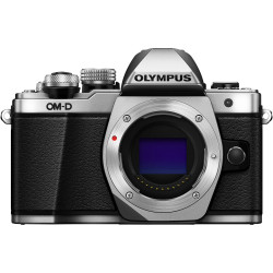фотоапарат Olympus E-M10 III OM-D (сребрист) + обектив Olympus ZD Micro 45mm f/1.8 MSC (черен) + чанта Lowepro Nova 140 AW II Mica Pixel Camo + карта Lexar Professional SD 64GB XC 633X 95MB/S + аксесоар Zeiss Lens Cleaning Kit Premium