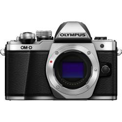фотоапарат Olympus E-M10 III OM-D (сребрист) + обектив Olympus ZD Micro 45mm f/1.8 MSC (черен)