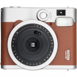 фотоапарат за моментални снимки Fujifilm instax mini 90 Neo Classic Instant Camera (кафяв) + фото филм Fujifilm Instax Mini ISO 800 Instant Film 10 бр.