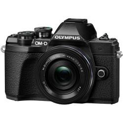 фотоапарат Olympus E-M10 III + обектив Olympus ZD Micro 14-42mm f/3.5-5.6 EZ ED MSC (черен) + обектив Olympus MFT 45mm f/1.8 MSC