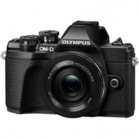 фотоапарат Olympus E-M10 III + обектив Olympus ZD Micro 14-42mm f/3.5-5.6 EZ ED MSC (черен)