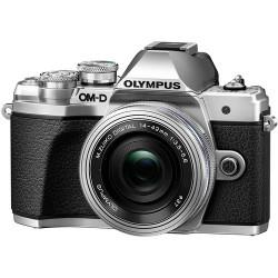 фотоапарат Olympus E-M10 III (сребрист) + обектив Olympus ZD Micro 14-42mm f/3.5-5.6 EZ ED MSC (сребрист) + обектив Olympus MFT 45mm f/1.8 MSC