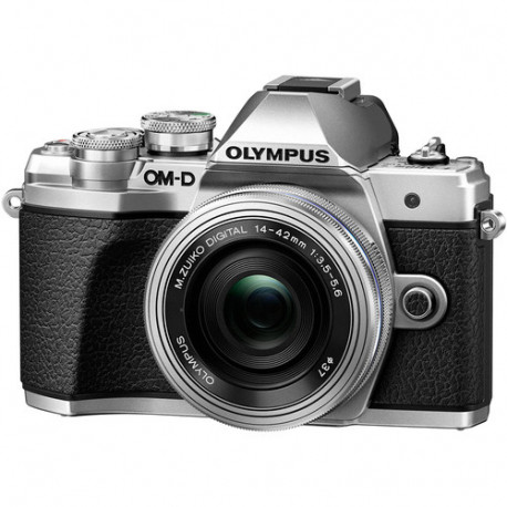 фотоапарат Olympus E-M10 III (сребрист) + обектив Olympus ZD Micro 14-42mm f/3.5-5.6 EZ ED MSC (сребрист)
