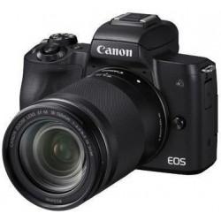 фотоапарат Canon EOS M50 + обектив Canon EF-M 18-150mm f/3.5-6.3 IS STM + карта Lexar 32GB Professional UHS-I SDHC Memory Card (U3)
