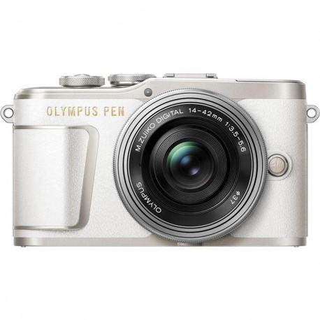 Olympus PEN E-PL9 (White) + Lens Olympus ZD Micro 14-42mm f / 3.5-5.6 EZ ED MSC (Silver) + Lens Olympus MFT 45mm F/1.8 MSC