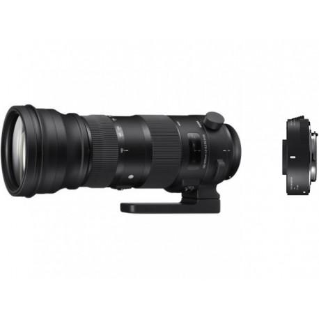 обектив Sigma 150-600mm f/5-6.3 DG OS HSM S за Nikon F + конвертор Sigma TC-1401 (1.4x) за Nikon F