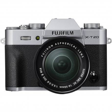 Camera Fujifilm X-T20 (сребрист) + Lens Fujifilm Fujinon XC 15-45mm f / 3.5-5.6 OIS PZ